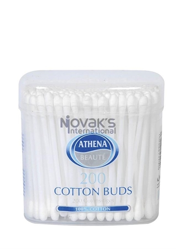Athena Cotton Buds Paper Stem 200'