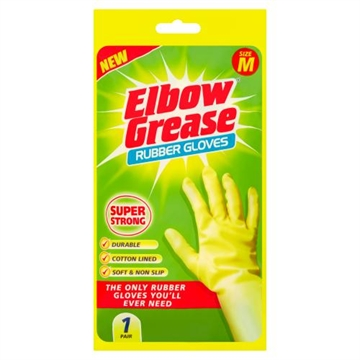 Elbow Grease Super Strong Rubber Gloves M