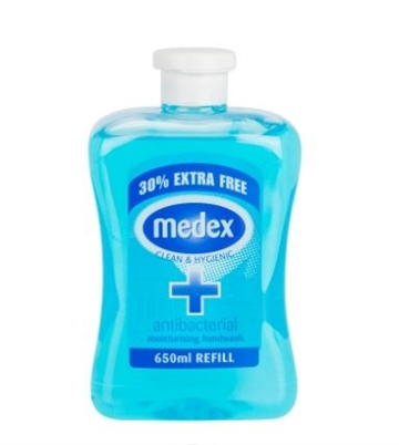 Medex Antibacterial Hand Wash Blue 650ml
