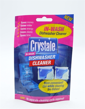 Crystale In Wash Dishwasher Cleaner Capsules 2'S