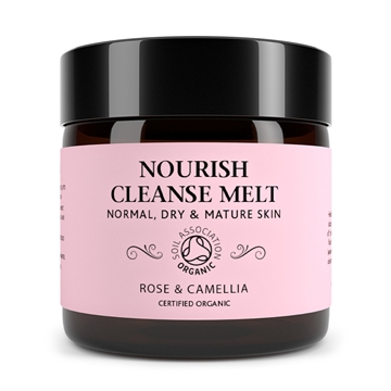 Botanicals Natural Organic Skincare Nourish Cleanse Melt Rose and Camelia 60g Normal, Dry and Mature Skin