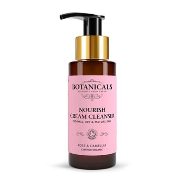 Botanicals Natural Organic Skincare Nourish Cream Cleanser Rose Camelia 100ml Normal, Dry and Mature Skin
