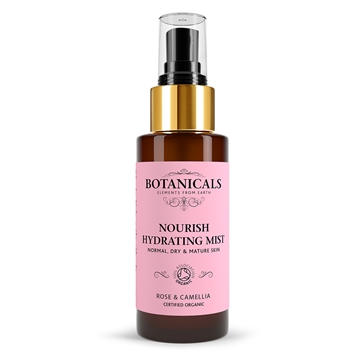 Botanicals Natural Organic Skincare Nourish Hydrating Mist Rose Camelia 100ml Normal, Dry and Mature