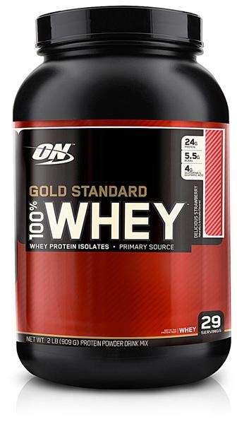 Optimum Nutrition 100 Whey Gold 908g delicious strawberry