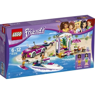 LEGO Friends Andreas Rennboot-Transporter 41316
