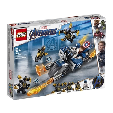 LEGO Super Heroes Marvel Avengers Captain America Outrider-Attacke 76123