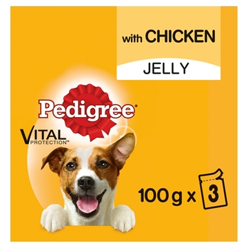 Pedigree Dog Pouch Chicken In Jelly 3X100G