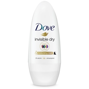 Dove roll-on deodorant 50 ml. Invisible dry.