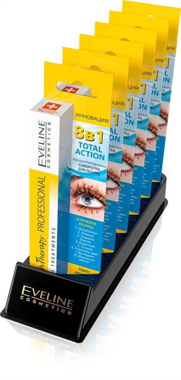 Eveline Lash Therapy P.Concentrated Eyelash Serum 8In1 8Pcs+1 Tester