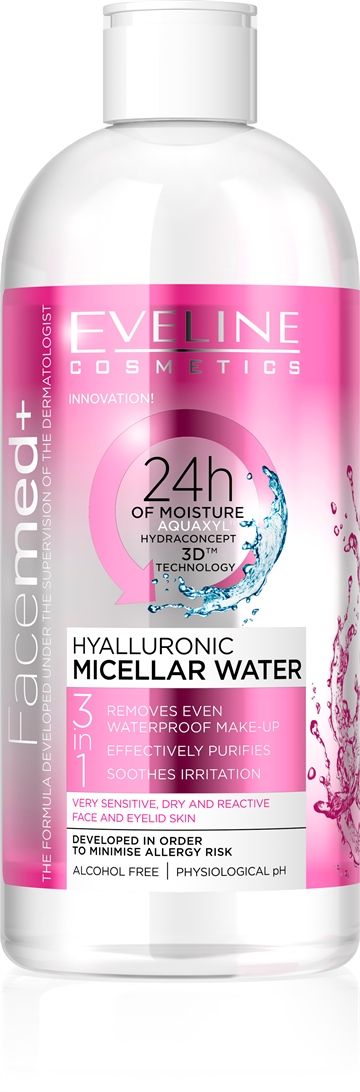 Eveline Facemed+ Hyalluronic Micellar Water 400ml