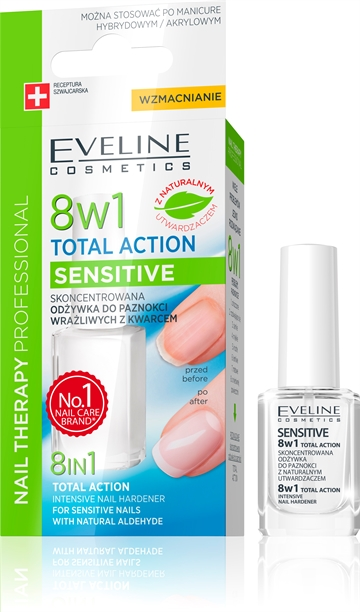 Eveline Nail Therapy Professional Total Action 8 In 1 Sensitive 12ml