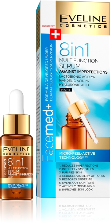 Eveline Facemed+ 8In1 Multifunction Serum Against Imperfections 18ml