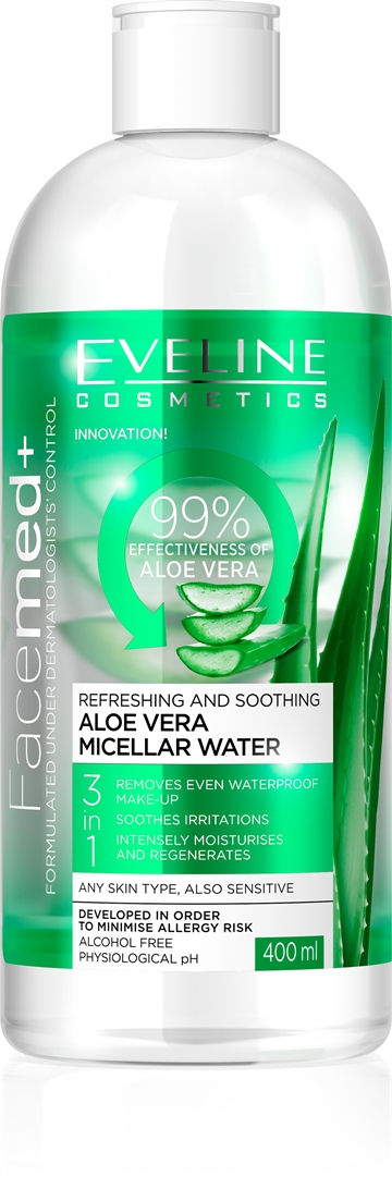 Eveline Facemed+ Aloe Vera Micellar Water 400ml
