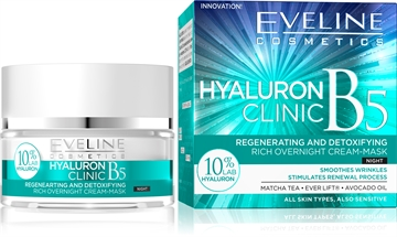 Eveline Hyaluron Clinic Rich Overnight Cream-Mask 50ml