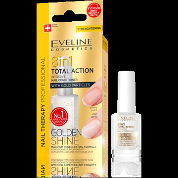 Eveline Nail Therapy Conditioner 8 In 1 Golden Shine 12ml