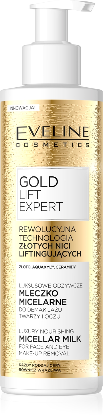 Eveline Gold Lift Expert Luxury Nourishing Micellar Milk For Face&Eye 200ml