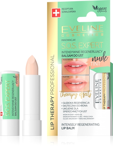 Eveline Lip Therapy Professional S.O.S. Expert Lip Balm Tint Nude