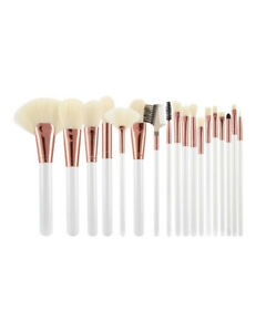 Mimo Makeup Brush White&Ecru 18Pcs Set