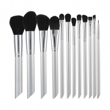 Mimo Makeup Brush Grey 12Pcs Set