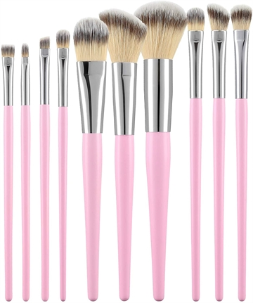 Mimo Makeup Brush Pink 10Pcs Set