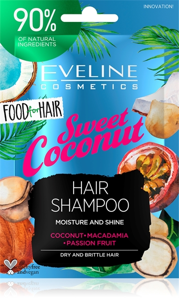 Eveline Food For Hair Sweet Coconut Hair Shampoo 20ml