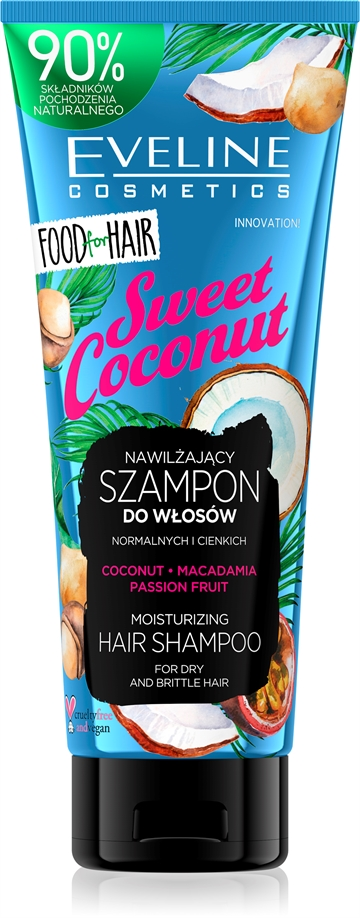 Eveline Food For Hair Sweet Coconut Hair Shampoo 250ml