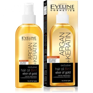 Eveline Exclusive Hair Oil 8In1 Elixir Of Gold 150 ml