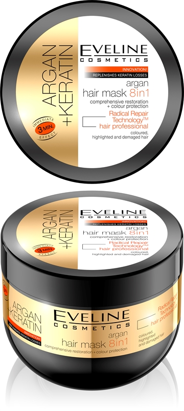 Eveline Argan Hair Mask 8In1 300ml