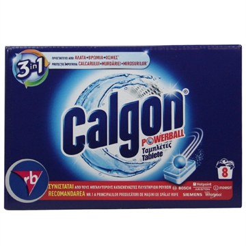 Calgon Tablets Powerball 104G 3 En 1 -  8 U