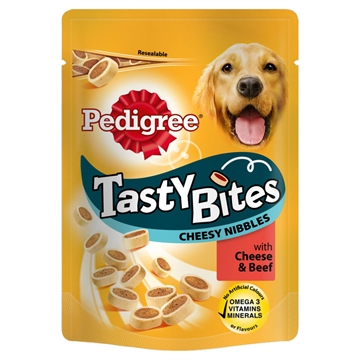 Pedigree Dog Tasty Bites Cheese & Beef  140G