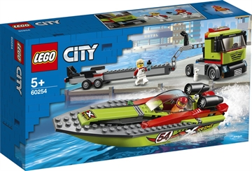 LEGO City Great Vehicles 60254 Rennboot-Transporter