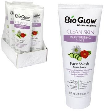 Bioglow Facewash Moisturising 3In1 100ml