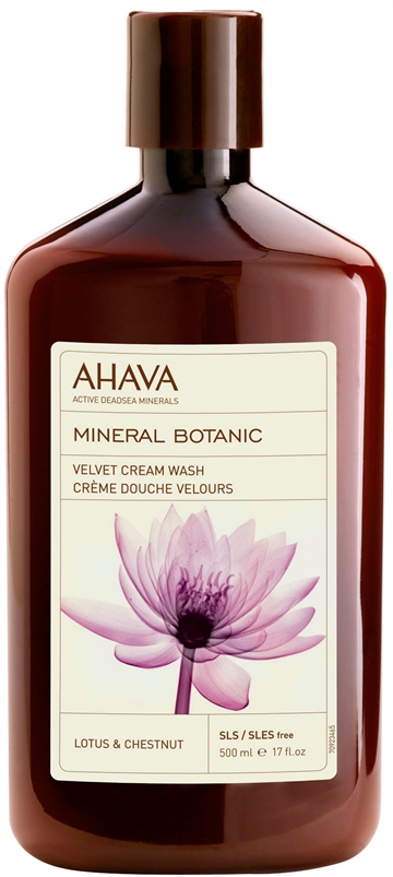 Ahava Mineral Botanic Cream Wash Lotus 500ml Lotus & Chestnut