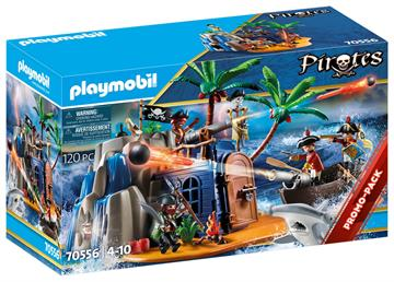Playmobil Pirateninsel mit Schatzversteck (70556)