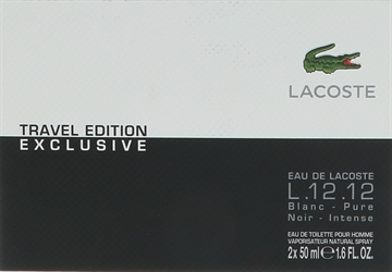 Lacoste Travel Edition L.12.12 Blanc Noir Giftset 100ml