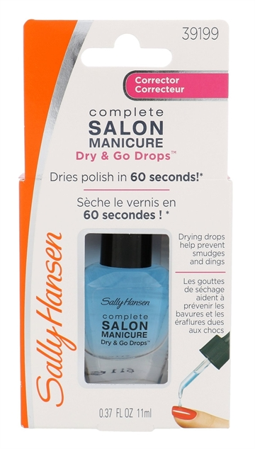 Sally Hansen Salon Manicure Dry And Go Drops Corrector 60 Seconds 11ml Helps Prevent Smudges And Dings