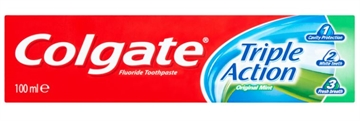 Colgate Toothpaste 100 ml  Triple Action