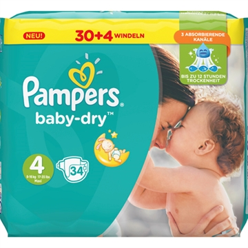 Pampers Baby Dry Size 4 Maxi 8-16kg 36 pcs