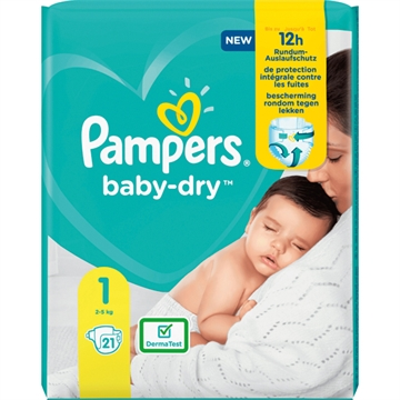 Pampers Baby Dry Size 1 Newborn 2-5kg 21 pcs