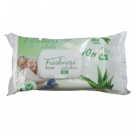 Freshness Wipes 40 U  Maxi Adults Aloe Vera
