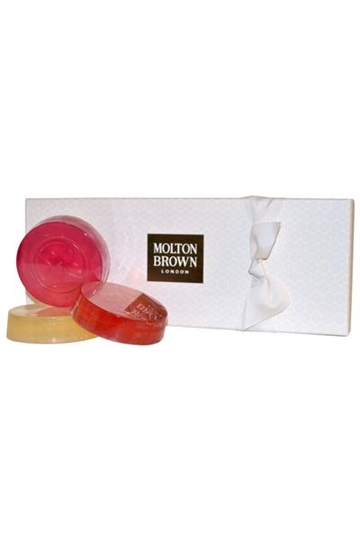 Molton Brown Precious Gem Soap Collection- Gingerlily Orange & Bergamot, Pink Pepperpod
