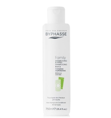Byphasse Family Shampoo & Conditioner 750 ml All Hair Types