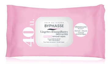 Byphasse Remover Cleansing Wipes 40 U. Milk Proteins All Skin Types
