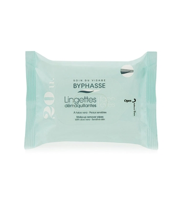 Byphasse Remover Cleansing Wipes 20 U. Aloe Vera Sensitive Skin