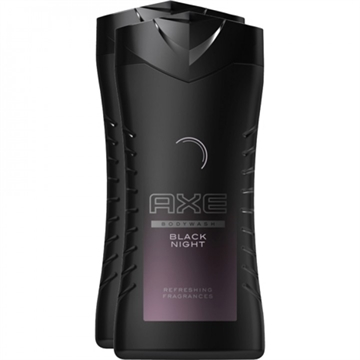 Axe Dusch 2x250ml Black Night