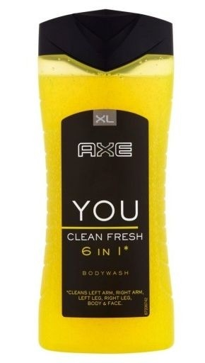 Axe Dusch 400ml YOU Clean Fresh 6in1