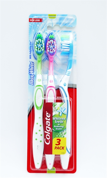 Colgate Toothbrush Max White Medium 3'
