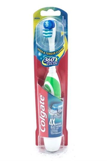 Colgate Toothbrush 360 Clean Battery Medium