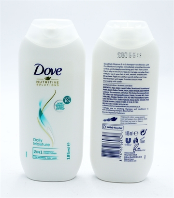 Dove Shampoo Moisture 2In1 185ml