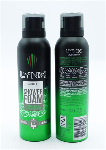 Lynx Africa Shower Foam 200ml